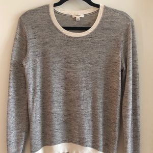 Artizia Wilfred Grey Ringer Sweater - Size XXS